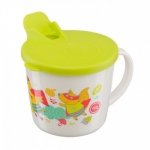 Тренировочная кружка с крышкой Training Cup lime Happy Baby, арт