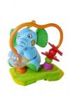 Развивающая игрушка на бампер коляски Biba Toys Счастливый слоне