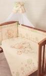 Золотой гусь,Комплект в кроватку Мика  7 пр. 1104 зеленый